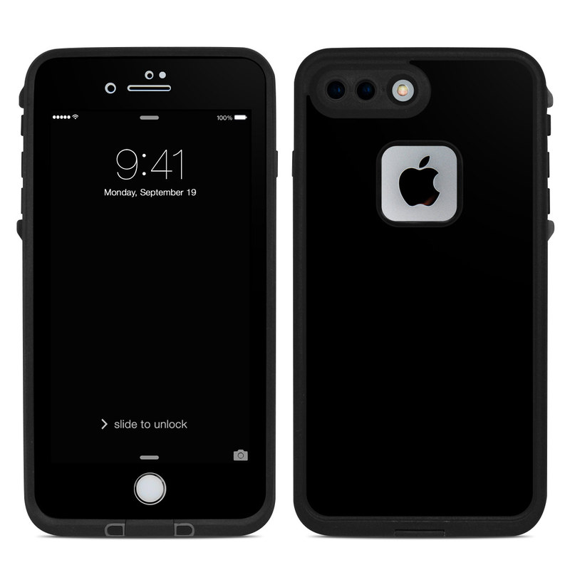 black iphone skin lifeproof iphone 7 plus fre skin solid state black 4595