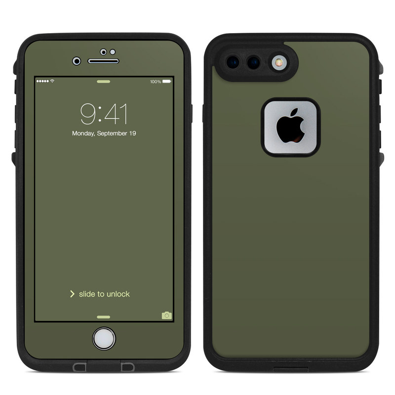 detailed pictures 8dab3 0a932 Lifeproof iPhone 7 Plus Fre Case Skin - Solid State Olive Drab