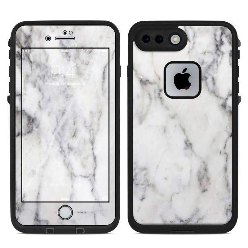 Lifeproof iPhone 7 Plus Fre Case Skin - White Marble by Marble ... 9508ad87e420