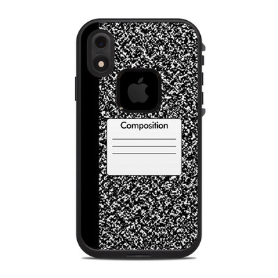 Lifeproof iPhone XR Fre Case Skin - Composition Notebook