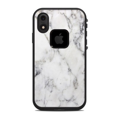 Lifeproof iPhone XR Fre Case Skin - White Marble
