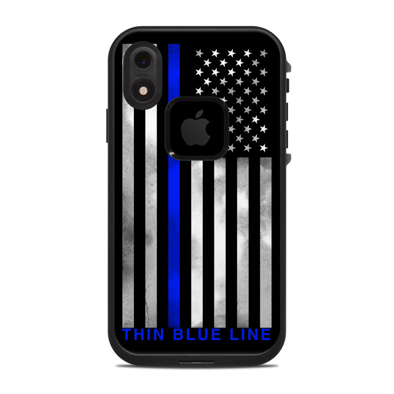 newest 5ebe5 c23b0 Lifeproof iPhone XR Fre Case Skin - Thin Blue Line by DecalGirl Collective