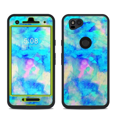 Lifeproof Google Pixel 2 Fre Case Skin - Electrify Ice Blue