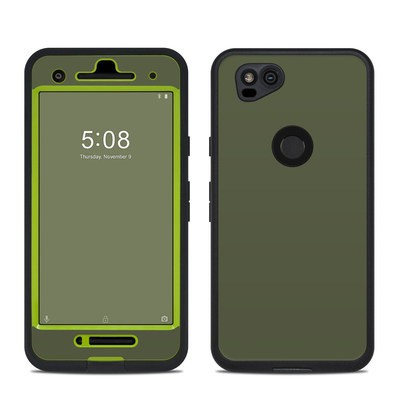 Lifeproof Google Pixel 2 Fre Case Skin - Solid State Olive Drab