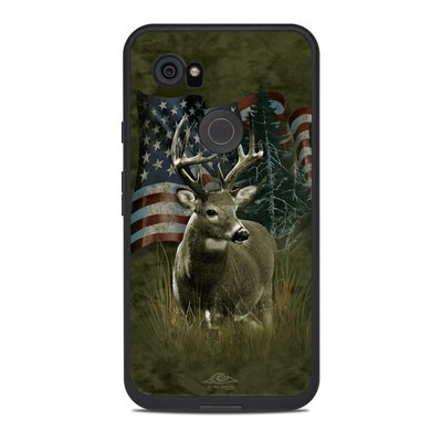 Lifeproof Google Pixel 2 XL Fre Case Skin - Deer Flag
