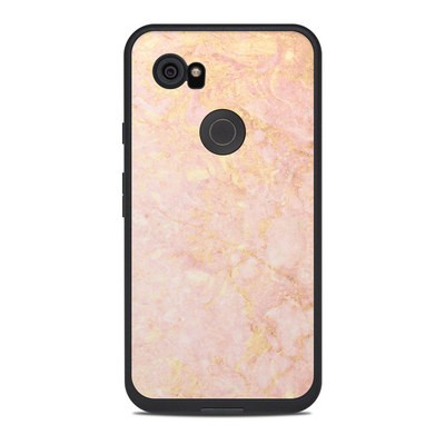 Lifeproof Google Pixel 2 XL Fre Case Skin - Rose Gold Marble