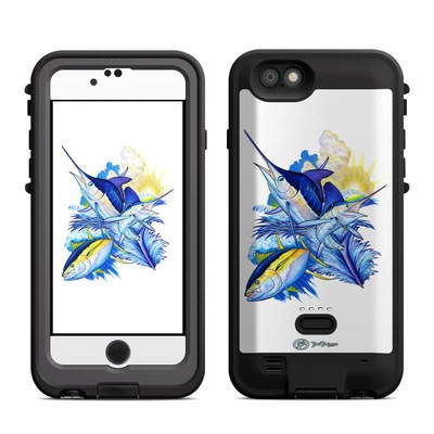 Lifeproof iPhone 6 Fre Power Case Skin - Blue White and Yellow