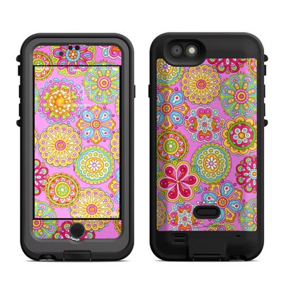 Lifeproof iPhone 6 Fre Power Case Skin - Bright Flowers