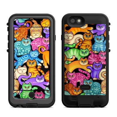 Lifeproof iPhone 6 Fre Power Case Skin - Colorful Kittens