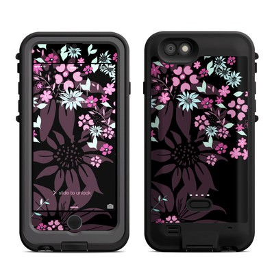 Lifeproof iPhone 6 Fre Power Case Skin - Dark Flowers
