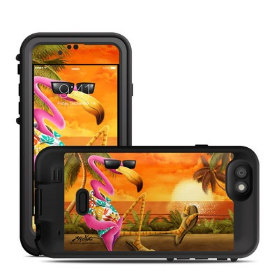 Lifeproof iPhone 6 Fre Power Case Skin - Sunset Flamingo