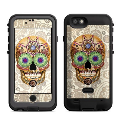 Lifeproof iPhone 6 Fre Power Case Skin - Sugar Skull Bone