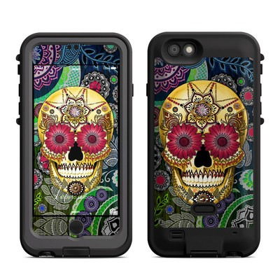 Lifeproof iPhone 6 Fre Power Case Skin - Sugar Skull Paisley