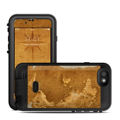 Lifeproof iPhone 6 Fre Power Case Skin - Upside Down Map