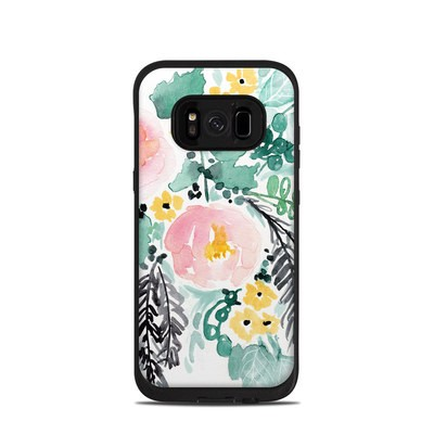 Lifeproof Galaxy S8 Fre Case Skin - Blushed Flowers