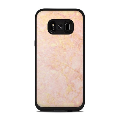 Lifeproof Galaxy S8 Plus Fre Case Skin - Rose Gold Marble