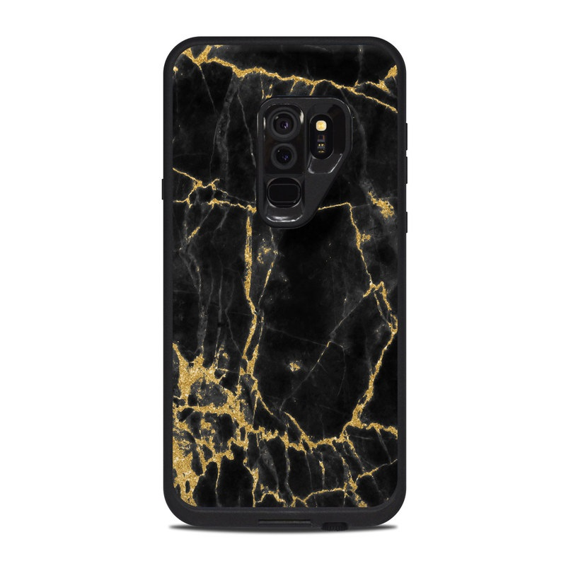 separation shoes f648c 84db2 Lifeproof Galaxy S9 Plus Fre Case Skin - Black Gold Marble