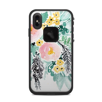 Lifeproof iPhone XS Max Fre Case Skin - Blushed Flowers