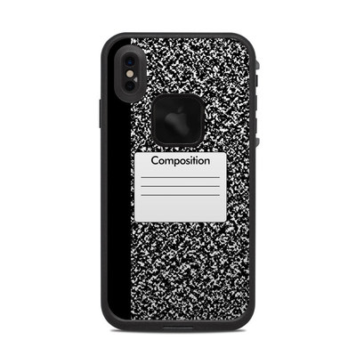 Lifeproof iPhone XS Max Fre Case Skin - Composition Notebook