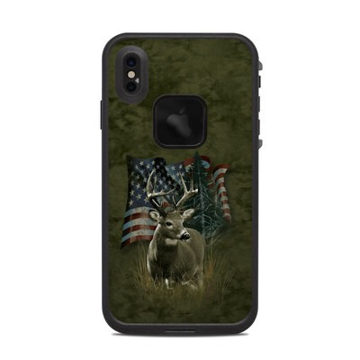 Lifeproof iPhone XS Max Fre Case Skin - Deer Flag