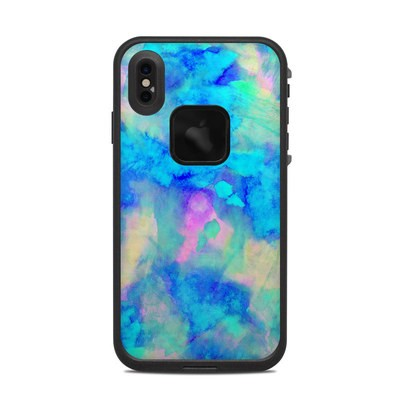 Lifeproof iPhone XS Max Fre Case Skin - Electrify Ice Blue