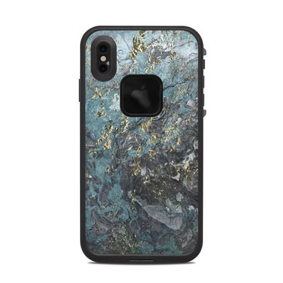 Lifeproof iPhone XS Max Fre Case Skin - Gilded Glacier Marble