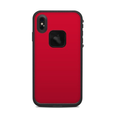 Lifeproof iPhone XS Max Fre Case Skin - Solid State Red