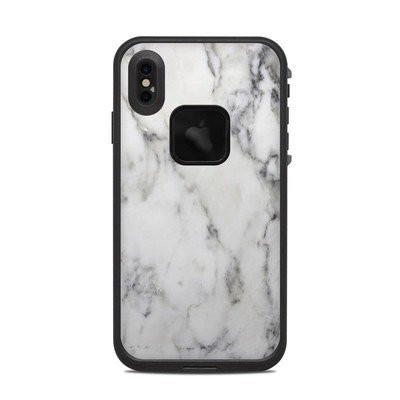 Lifeproof iPhone XS Max Fre Case Skin - White Marble