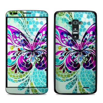 LG G Flex Skin - Butterfly Glass