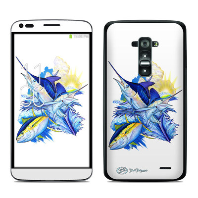 LG G Flex Skin - Blue White and Yellow
