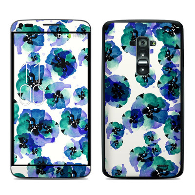 LG G Flex Skin - Blue Eye Flowers