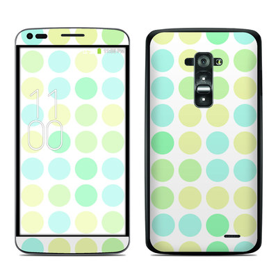 LG G Flex Skin - Big Dots Mint