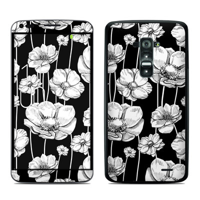 LG G Flex Skin - Striped Blooms