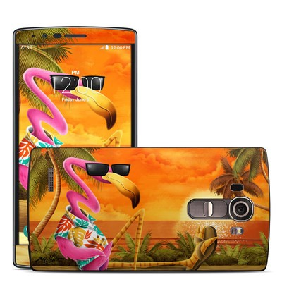 LG G4 Skin - Sunset Flamingo