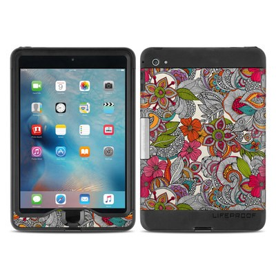 Lifeproof iPad Mini Nuud 4 Case Skin - Doodles Color
