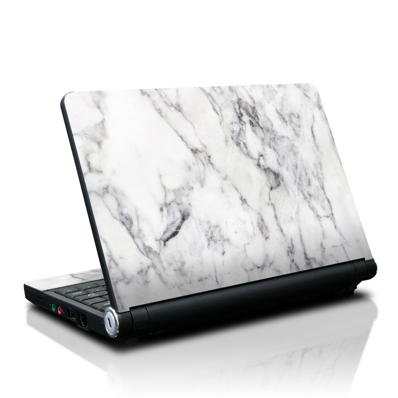 lenovo ideapad s10 skin white marble by marble collection decalgirl. Black Bedroom Furniture Sets. Home Design Ideas