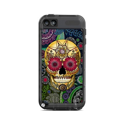 Lifeproof iPod Touch 5G Case Skin - Sugar Skull Paisley