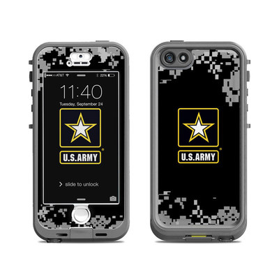 Lifeproof iPhone 5S Nuud Case Skin - Army Pride