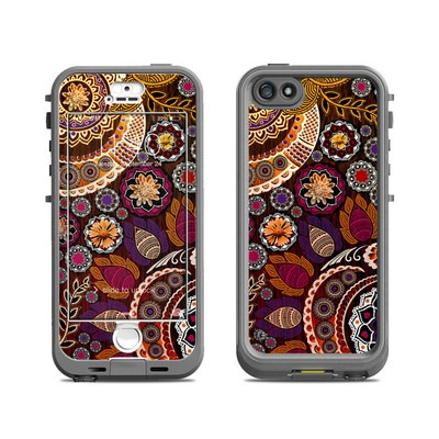 Lifeproof iPhone 5S Nuud Case Skin - Autumn Mehndi