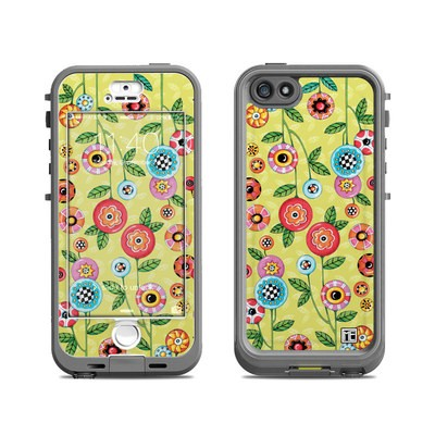 Lifeproof iPhone 5S Nuud Case Skin - Button Flowers
