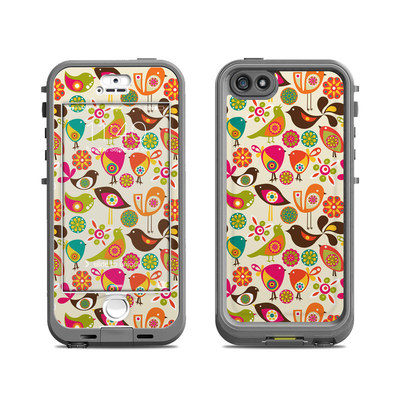 Lifeproof iPhone 5S Nuud Case Skin - Bird Flowers