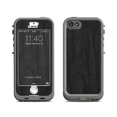 Lifeproof iPhone 5S Nuud Case Skin - Black Woodgrain