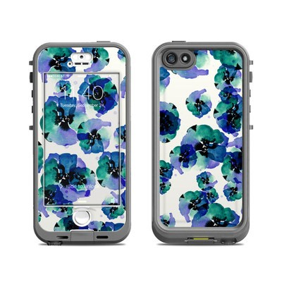 Lifeproof iPhone 5S Nuud Case Skin - Blue Eye Flowers
