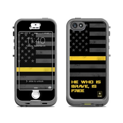 Lifeproof iPhone 5S Nuud Case Skin - Brave is Free