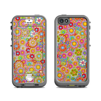 Lifeproof iPhone 5S Nuud Case Skin - Bright Ditzy