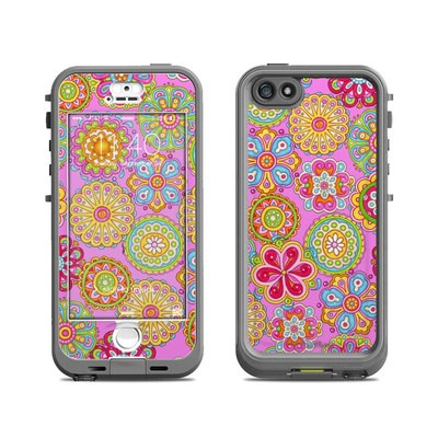 Lifeproof iPhone 5S Nuud Case Skin - Bright Flowers