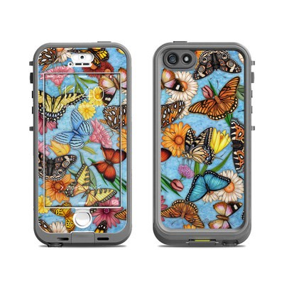 Lifeproof iPhone 5S Nuud Case Skin - Butterfly Land