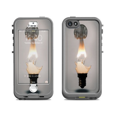 Lifeproof iPhone 5S Nuud Case Skin - Burning Bulb