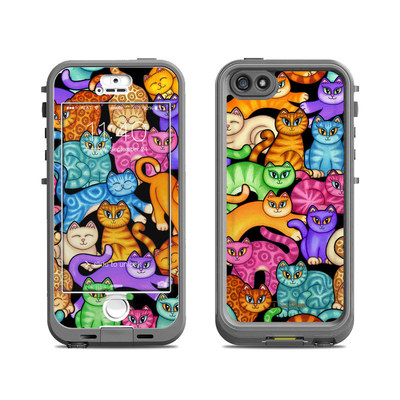Lifeproof iPhone 5S Nuud Case Skin - Colorful Kittens