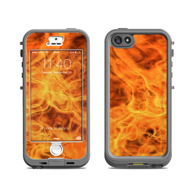Lifeproof iPhone 5S Nuud Case Skin - Combustion